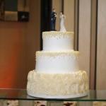 off-white-rosette-wedding-cake