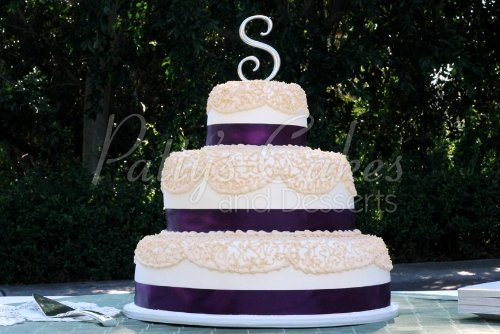 3 tier purple wedding cake amazing 3 tiered wedding cakes 10239