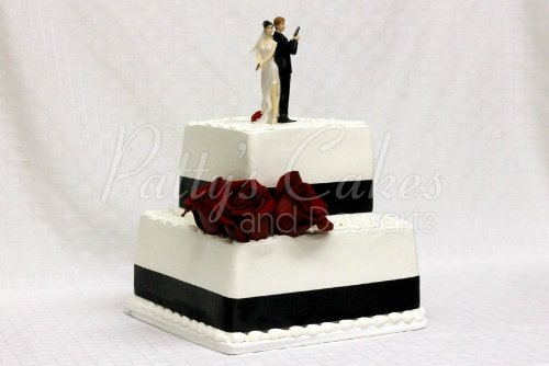 2 tiered wedding cakes archives pattys cakes and desserts wedding cake 2 tier secret agents holding guns junglespirit Image collections