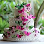 wedding-cake-3-tier-butterflies-colorful-round