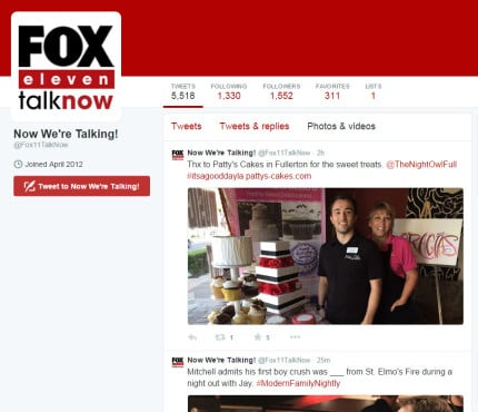 Patty's Cakes on Fox11-twitter