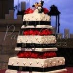 black-white-red-square-wedding-cake-mickey