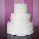 rustic ruffles wedding cake