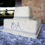 wedding cake 2 tier square gray