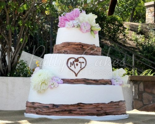 Wedding Cake With Separate Tiers Woodland