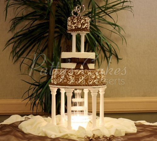 Beautiful fountain wedding cakes