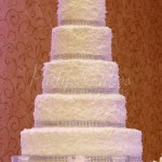 wedding cake coconute white bling snow