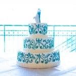 wedding cake damask