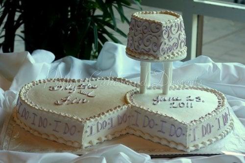 Wedding Cake Heart Shaped