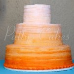 wedding-cake-ombre-orange-round