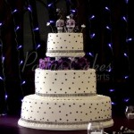 wedding cake purple dotsday of dead 3 tier