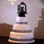 wedding cake round black bling gothic