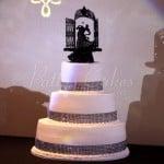 wedding cake round black bling gothic