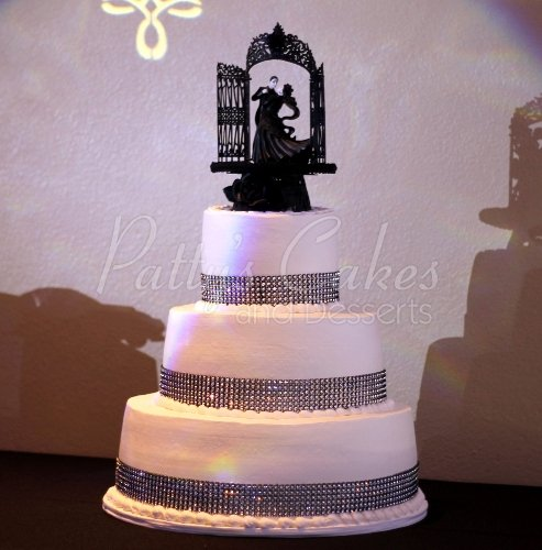 Beautiful 3 tier bling wedding cakes