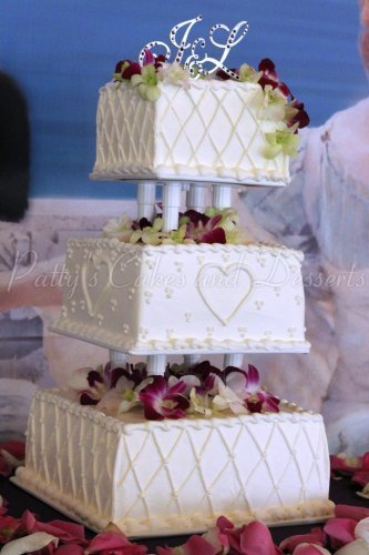 Gorgeous 3 Tier Wedding Cake Archives Pattys Cakes And Desserts - 3 Tier Wedding Cakes