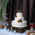 white outdoor wedding cake