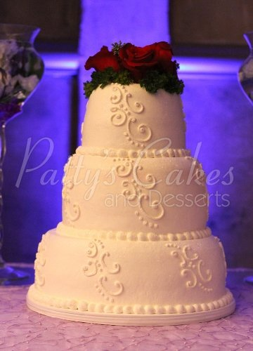 wedding cake white roses beautiful 3 tier cakes 26816