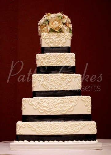 4 tier wedding cakes archives pattys cakes and desserts 5 tier wedding cake junglespirit Gallery