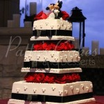 black-white-red-square-wedding-cake-mickey
