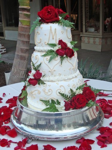 Red rose wedding cakes Archives - Patty\'s Cakes and Desserts