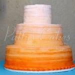 wedding-cake-ombre-orange-round