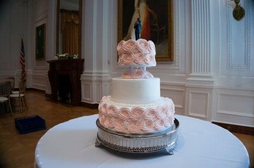 Bling Wedding Cakes Pink Wedding-cake-rosette-pink