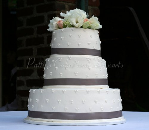 Purple wedding cakes archives pattys cakes and desserts wedding cake simple gray ribbon round junglespirit Choice Image