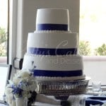 wedding cake white purple clean basic 3 tier round
