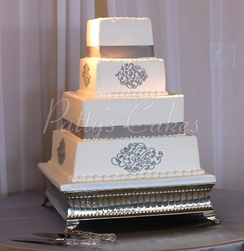 three tier square wedding cake designs bling wedding cakes archives patty s cakes and desserts 20934