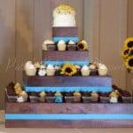 wedding-cupcake-wood-stand-blue-sunflowers