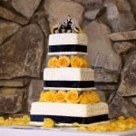 yellow-blue-wedding-cake