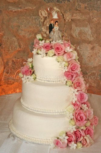 Wedding Cake Fresh Flowers Top