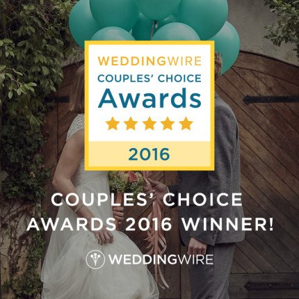 Wedding Wire's Couples Choice Award