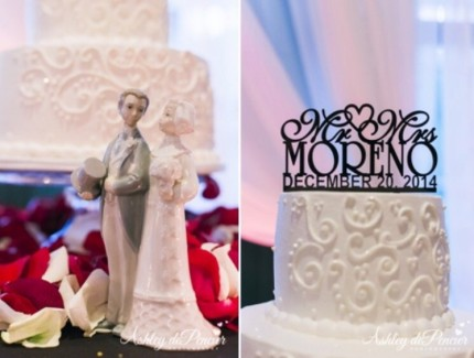 cake and cake topper