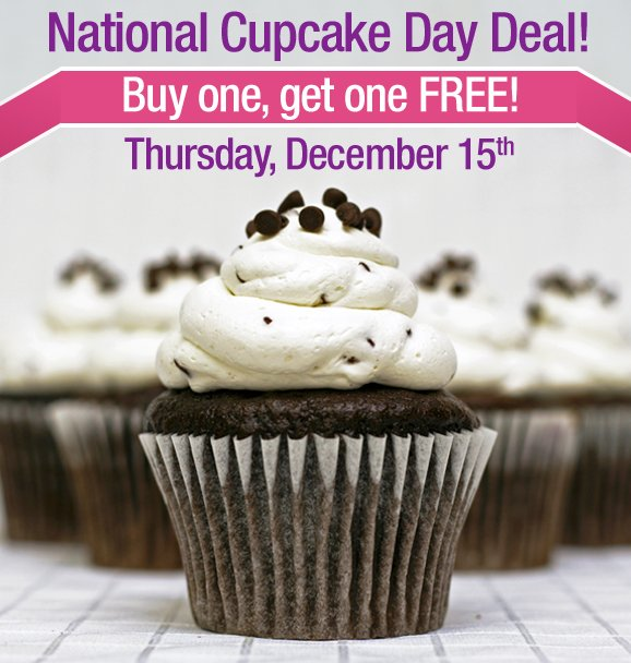 National Cupcake Day BOGO