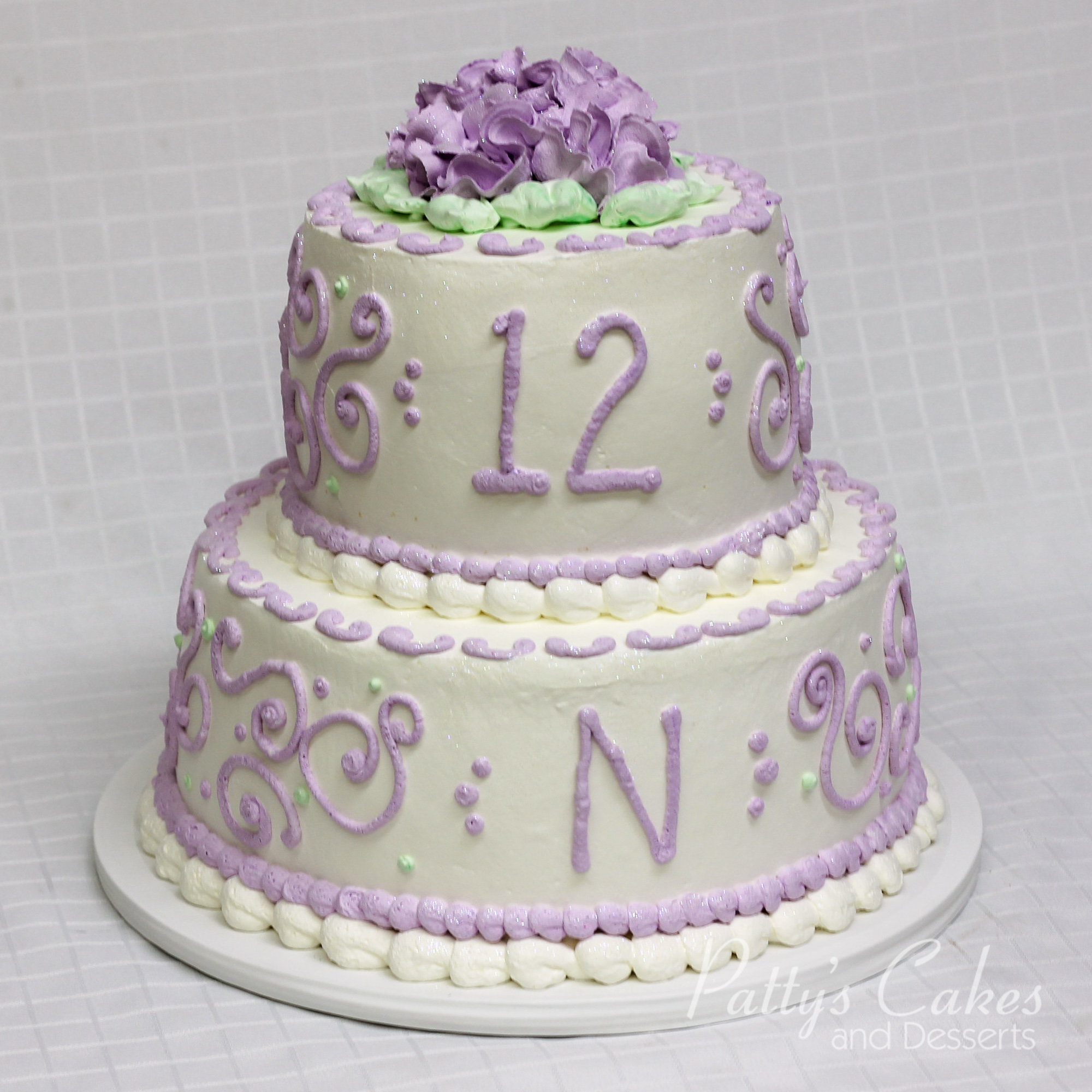 Similiar 2 Tier Purple Cake Keywords