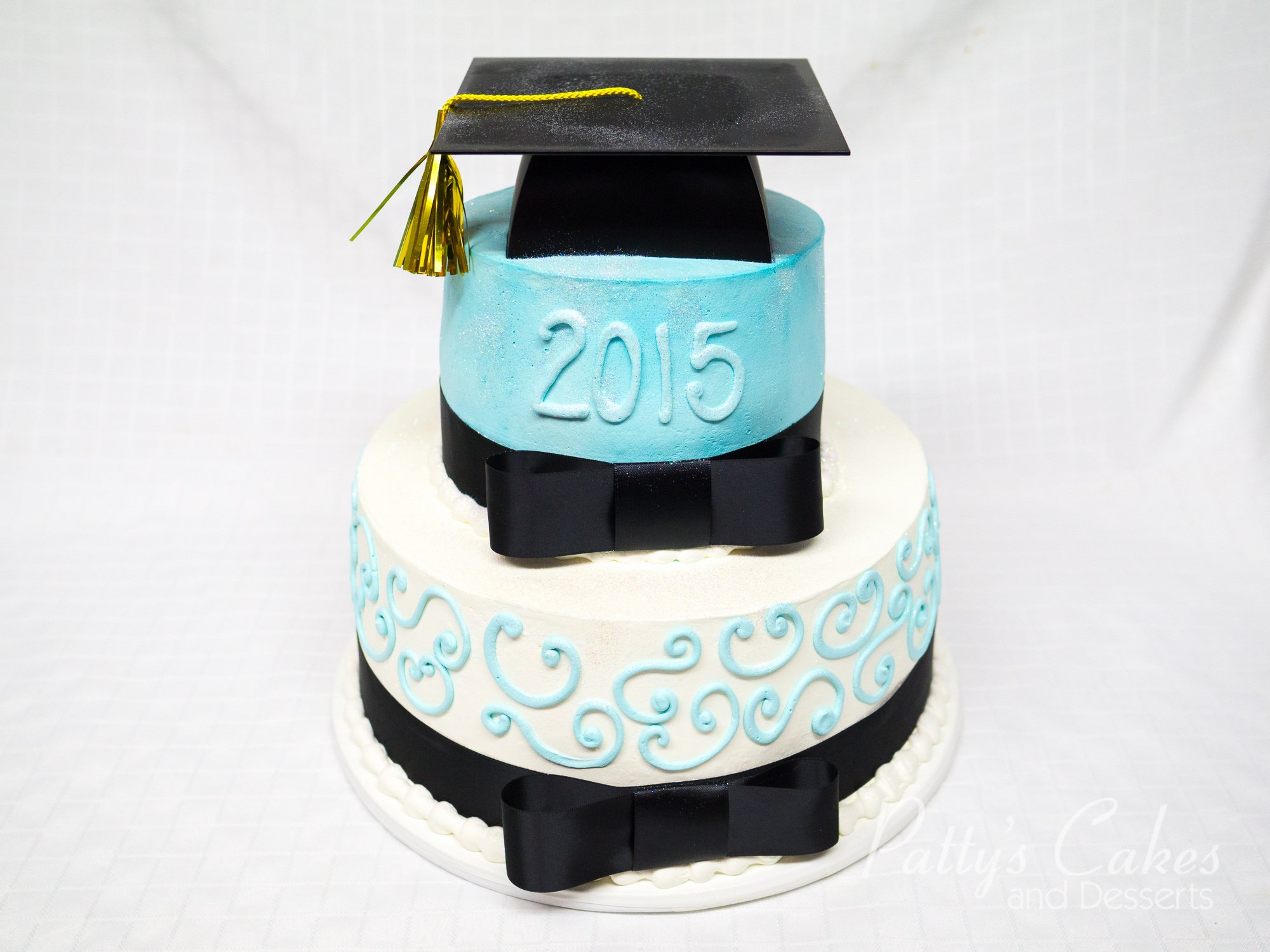 Photo Of A 2 Tier Graduation Cake Patty S Cakes And Desserts