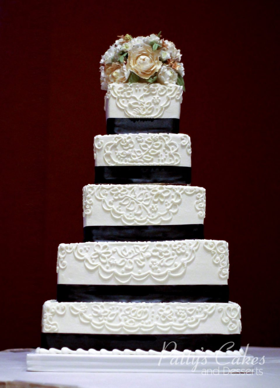 Photo Of A 5 Tier Wedding Cake Patty S Cakes And Desserts