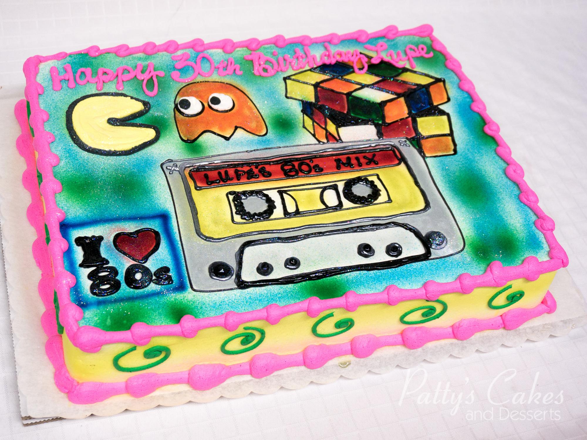 Photo Of A 80s Theme Birthday Cake