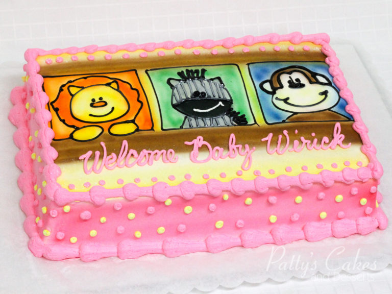 Photo of a welcome baby shower cake - Pattys Cakes and