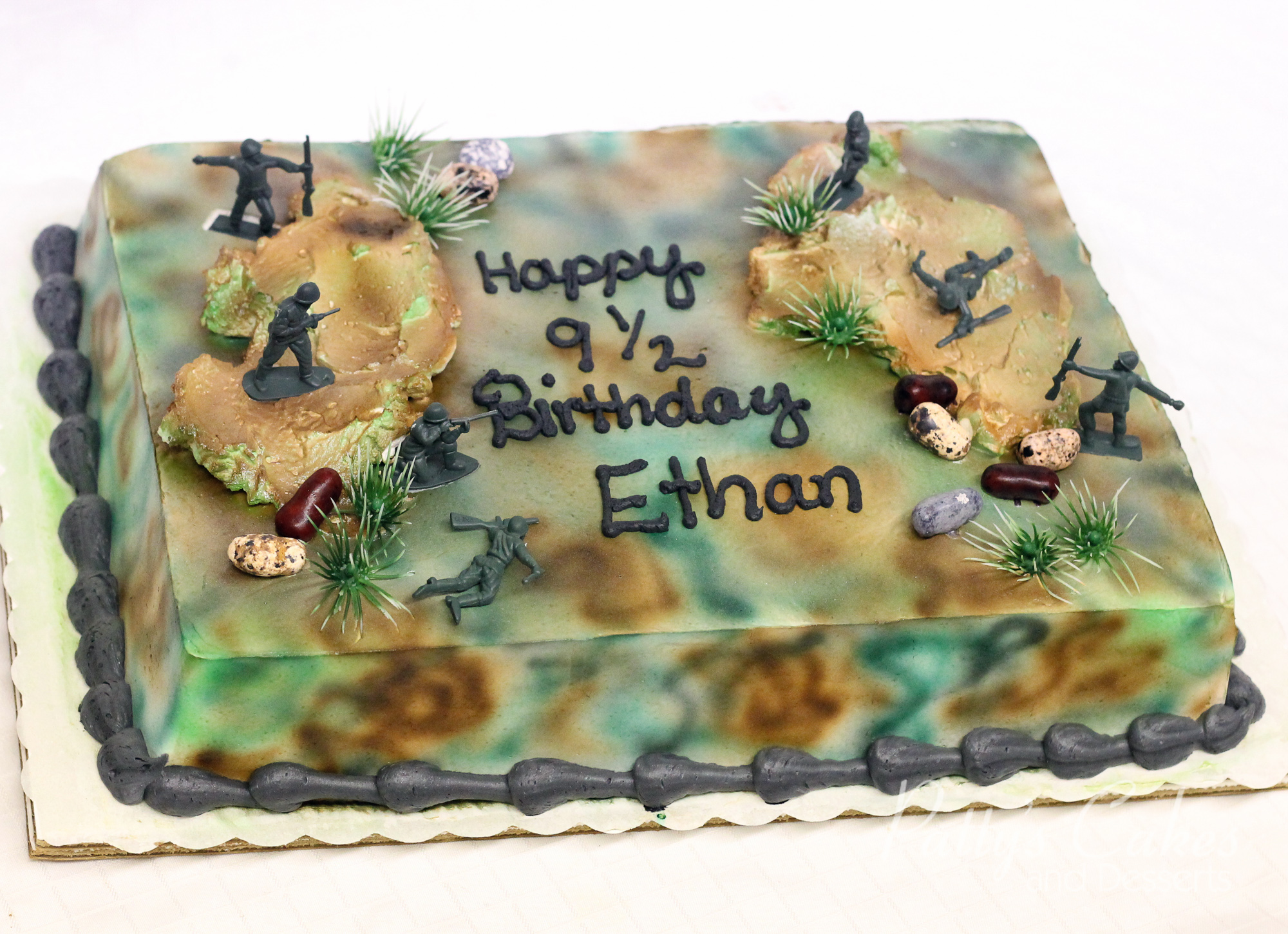 Photo Of A Army Men Birthday Cake Patty S Cakes And Desserts