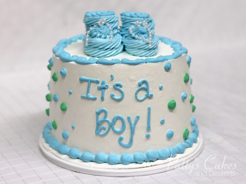 Photo Of A Babyshower Cake Blue Green Round Pattys Cakes And Desserts