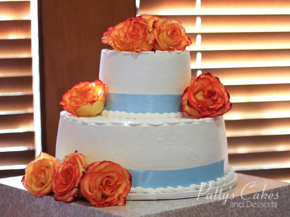 Photo of a blue orange anniversary cake - Patty\'s Cakes and Desserts