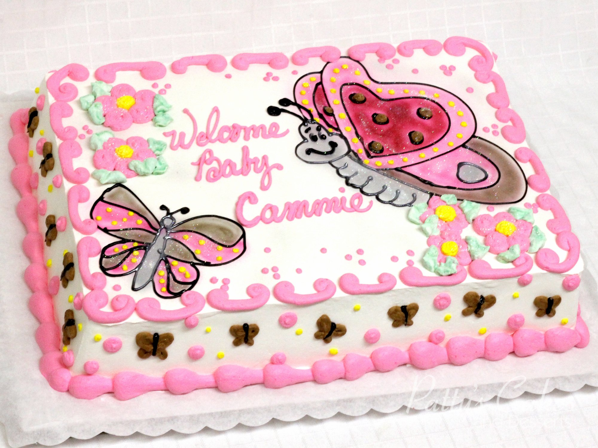 Photo Of A Butterfly Baby Shower Cake Patty S Cakes And