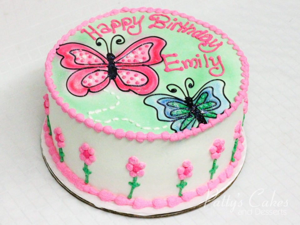 Photo Of A Butterfly Birthday Cake
