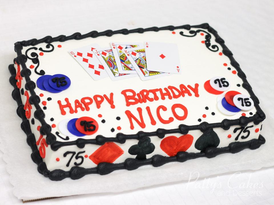 Photo Of A Casino Poker Theme Birthday Cake Pattys Cakes And Desserts