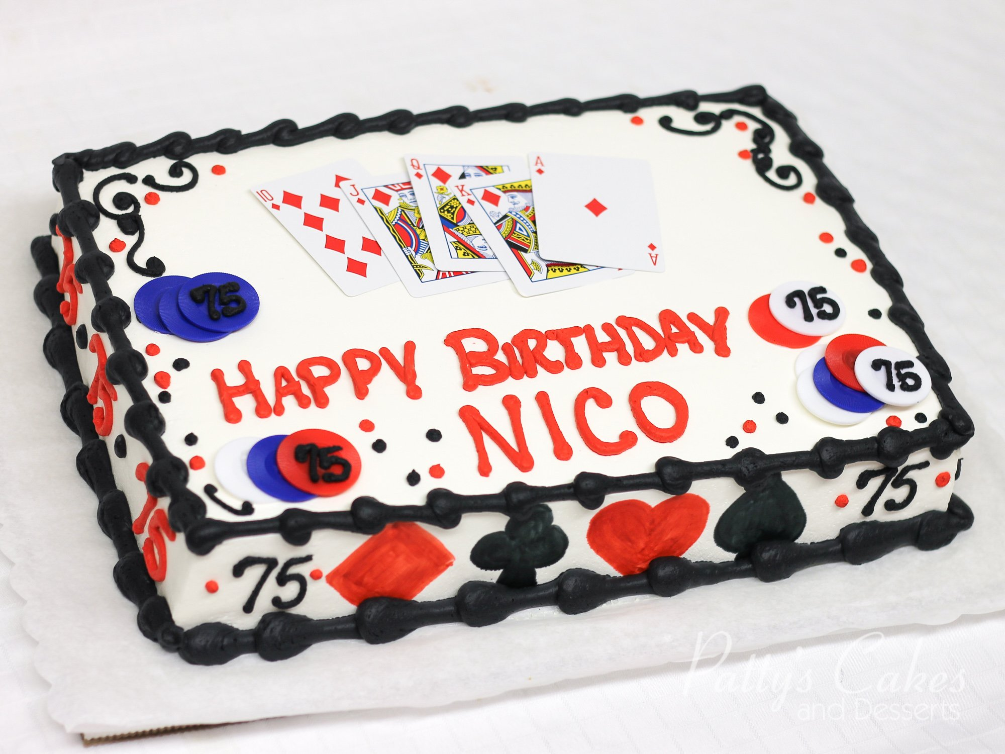 Photo Of A Casino Poker Theme Birthday Cake Patty S
