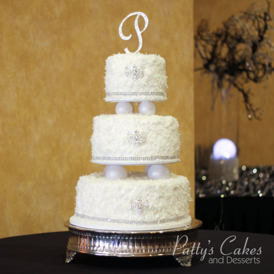 Photo of a coconut bling wedding cake - Patty\'s Cakes and Desserts
