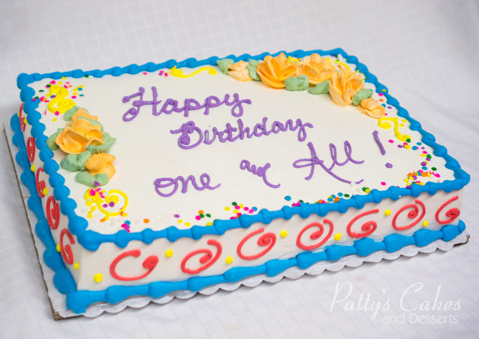 Photo of a colorful birthday cake - Patty's Cakes and Desserts