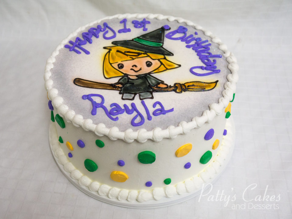 Photo Of A Cute Kids Witch Birthday Cake Pattys Cakes And Desserts